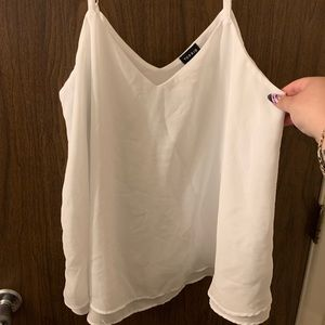 White V-Neck tank top